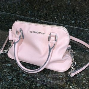 Liz Claiborne pink cross body purse